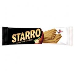 STARRO napolitane cu crema de cacao si alune padure 70gr