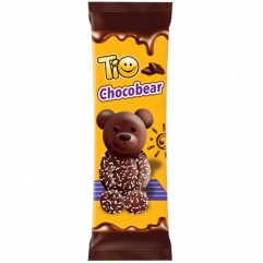 TIO CHOCOBEAR  prajitura  ursulet cu glazura de ciocolata si fulgi de cocos 50gr