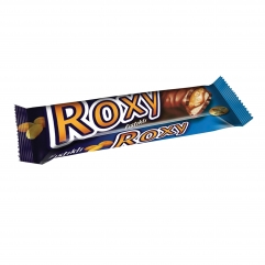 ROXY cocoa coated nugat, peanuts  and caramel bar 45gr