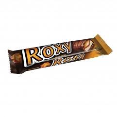ROXY cocoa coated nugat and caramel bar 45gr