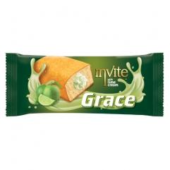 INVITE GRACE chec neglazurat cu crema de lamaie verde 55gr