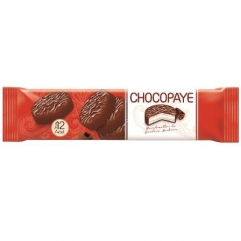 CHOCOPAYE cocoa coated sandwich biscuits with marshmallow and coconut  216gr