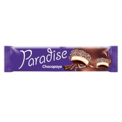 PARADISE CHOCOPAYE cocoa coated sandwich biscuits with marshmallow and coconut