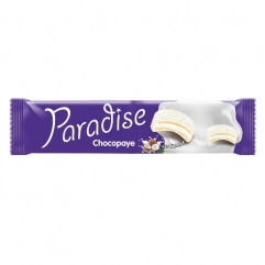 PARADISE CHOCOPAYE milk coated sandwich biscuits with marshmallow and coconut  64gr