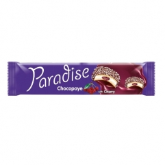 PARADISE CHOCOPAYE cocoa coated sandwich biscuits with marshmallow and cherry 64gr
