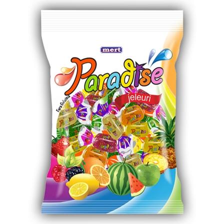 PARADISE jeleuri cu aroma de fructe 800gr