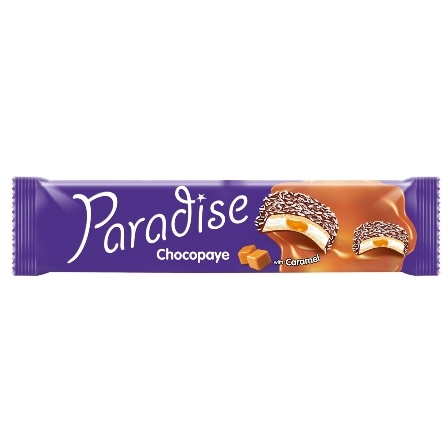 PARADISE CHOCOPAYE cocoa coated sandwich biscuits with marshmallow and caramel