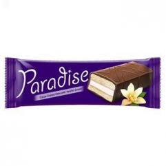 PARADISE prajitura cu glazura de cacao si crema vanilie 25gr